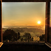 Tuscan Sunrise through window