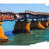 The old Bahia Honda bridge.