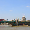 Southwark Bridge and the Dome of St Paul's