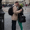 Kissing in front of the Pantheon