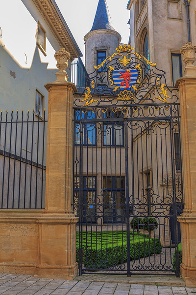 Palace Gate with Royal Crest