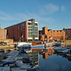 A 3 shot photomerge panorama of Brayford Pool from the balcony of The Shed