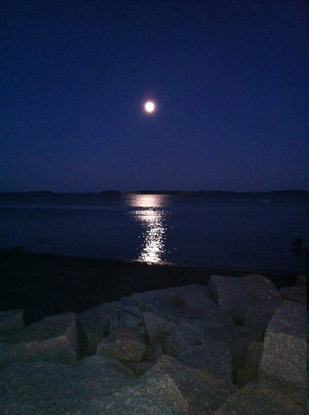 Moon Over Penobscot Bay
