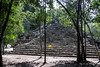 Coba-100<br /> At one time Coba is believed to of had around 50,000 inhabitants. Coba was a main trading city with elevated stone and plaster roads radiating west with the longest over 62 miles to Yaxuma.