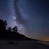 The Milky way over the shore of Lake Michigan, looking south from Leland, Michigan.