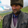 Friendly shepherd.  near Xinaliq, Azerbaijan