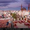 Turkey - Türkiye - Gaziantep - Antep - One of the oldest continually inhabited cities in the world - Kurtuluş Camii - Kurtulus Mosque - The most impressive of Gaziantep's many mosques - Built on a small hill off the main thoroughfare - Initially constructed as a cathedral in 1892, it features alternating black-and-white stone banding