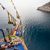 On a boat cruise off the shores of Alanya.