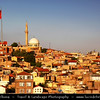 Turkey - Türkiye - Gaziantep - Antep - One of the oldest continually inhabited cities in the world - City Skyline with Mosque & Minaret