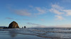 Haystack Rock just offshore from Cannon Beach, Oregon just before sunset.