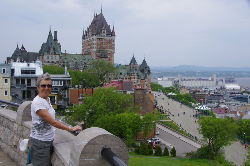 Chateau Frontenac and the port.
