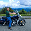 Vance on Harley, Blue Ridge Parkway 7/22/2016