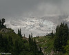 Nisqually Glacier , rarely seen through the cloud cover