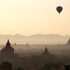 Sunrise in Bagan, Myanmar.