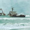 The Zeila is a fishing trawler that became disabled and was sold as scrap metal to an Indian company.  While being towed to Bombay in the summer of 2008, the Zeila came loose from its towing line and became stranded on the shore north of Swakopmund.
