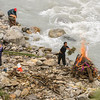 Feeding the funeral pyre on the banks of the Kali Gandaki River.  Death to dust: 12 hours