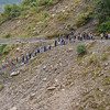 Funeral procession down to the banks of the Kali Gandaki River.