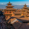 Bird's eye view of the Patan Durbar Square.
