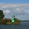 On the way home we sailed past this little green light beacon.