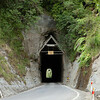 Further along the highway, Moki tunnel -- cut through solid rock, no lining and just one lane wide.
