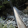 Another suspension bridge- a common occurance on the Milford Track.