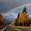 Fall rainbow Lake Taupo