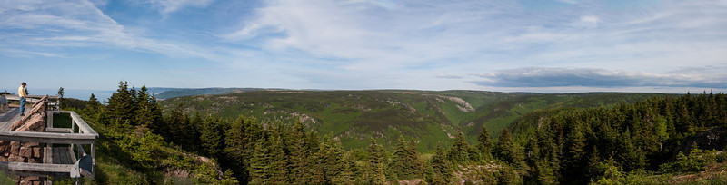 Cabot Trail, lookout on Mackenzie Mountain