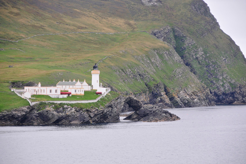 Shetlands, North Sea, coast, light house