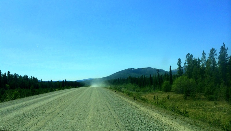 North to Alaska-@ mile 700,gravel section north of Warson lake, Yukon, may 29, 2015  202pm IMG_1622 3256x1854