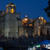our hotel was adjacent to the local church, right side of the photo --- night and day festivities