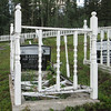 Concrete frames used to be used at Teslin Cemetery
