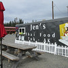 Jen's Thai Food Trailer in Tok, one of only two places to eat in Tok   The other being Fast Eddy's