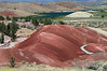 Painted Cove, a short loop hike in the Painted Hills Unit of the John Day Fossi Beds National Monument outside Mitchell OR