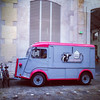 Paris, France, Contemporary Arts Center, 104,  Food Truck, Frozen Yougurt
