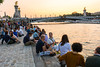 Paris, France, People in Seine River Restaurants, Bars on Rive Droite,