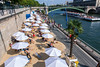 "Paris, France, Tourists enjoying Public Events, ""Paris Plage"", Urban Beach"