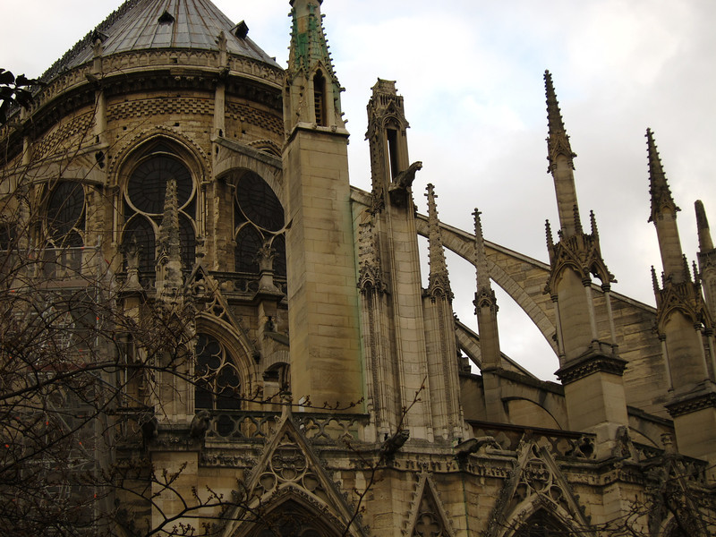 These flying buttresses make the airy interior possible