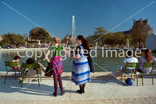 Paris, France, people Enjoying French Garden, Jardin des Tuileries