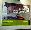 Paris, France,  Greenpeace Poster on Subway, Metro Wall, Arctic  30 Campaign
