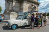 Paris, France, Tourists Shopping for Food / Ice Cream, Truck Outside on Alexander III Bridge