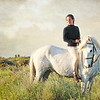 Guardienne<br /> Wild white Horses of the Camargue<br /> France