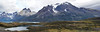 Lago Pehoé & Paine Horns (5 Photo Panorama)