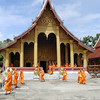Classes Out for the Young Monks of Wat Xieng Thong, Lao People's Democratic Republic