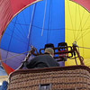 A tethered Hot Air Balloon is checked for a flight over Perris, California.