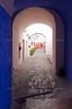 Arched doorway in Santa Calina Monastery, Arequipa, Peru