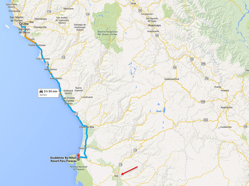 Road Trip from Lima to Paracas Region