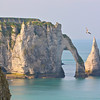 Photofreak. Etretat, Normandy. France. Rock formation. English Channel.