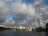 The London Eye ferris wheel on the Thames River in London, United Kingdom.  At a height of 135 metres (443 ft), it is the biggest Ferris wheel in Europe, and has become the most popular paid tourist attraction in the United Kingdom.(Australfoto/Douglas Engle)