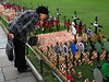 A woman looks at crosses and memorials on the lawn of the Westminster Cathedral in commemoration of Remembrance Day in London, United Kingdom. Remembrance Day is celebrated Nov. 11, the date that World War I ended.(Australfoto/Douglas Engle)