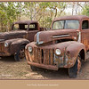 A pair of rusted old Ford Trucks parked at Ravenswood, Queensland, Australia.<br /> <br /> Photographed July 2010 - © Lesley Bray Photography